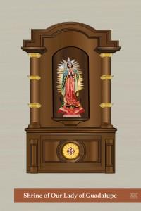 Retablo de Nuestra Señora de Guadalupe en la Capilla de San José
